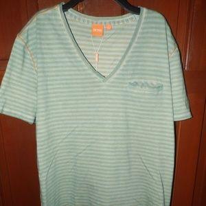 5bf53a1d BOSS ORANGE Shirts - Hugo Boss Orange Label SS V-Neck T-Shirt Medium